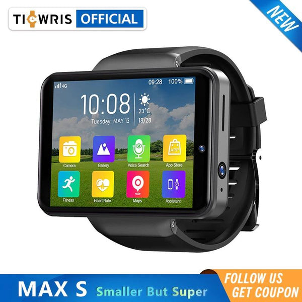 "Ticwris Max S 4G Android Smart Watch 2.4"" Display Face ID 2000mAh 3GB 32GB 8MP Dual Camera GPS Bluetooth Smartwatch - A1smartshop"