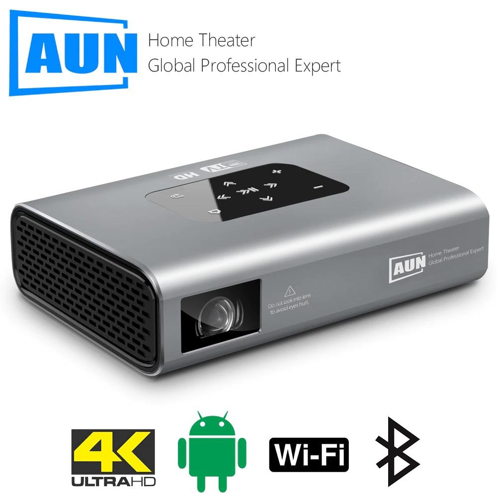 AUN Projector X5 4K Android WIFI 3D 10500mAH Battery 300inch 1080P DLP MINI Portable Vedio Projector for Home Smart Laser Beamer - A1smartshop