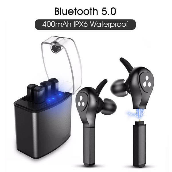 SYLLABLE New TWS Earphone D9X Bluetooth Earphone Lighter Battery Case Replaceable Battery Chip Bluetooth Headset Wireless earbud - A1smartshop