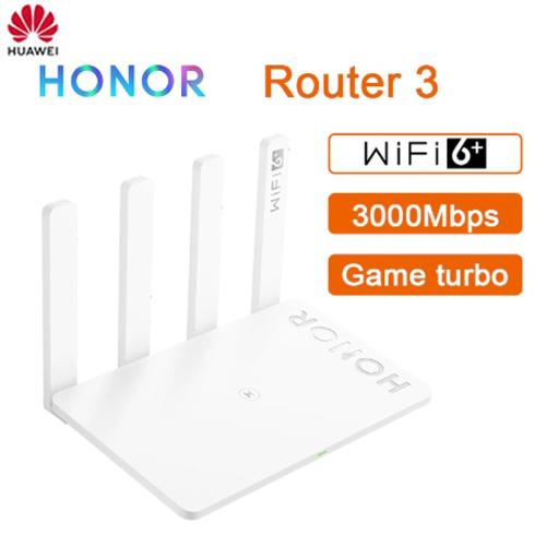 NEW HUAWEI HONOR Router 3 Dual-core WiFi 6+ 3000Mbps 2.4GHz 5GHz Dual-Band Router - A1smartshop