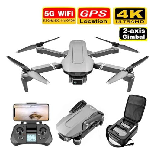 2020 F4 RC Drone GPS 4K HD Gimbal Camera 2km Distance - A1smartshop
