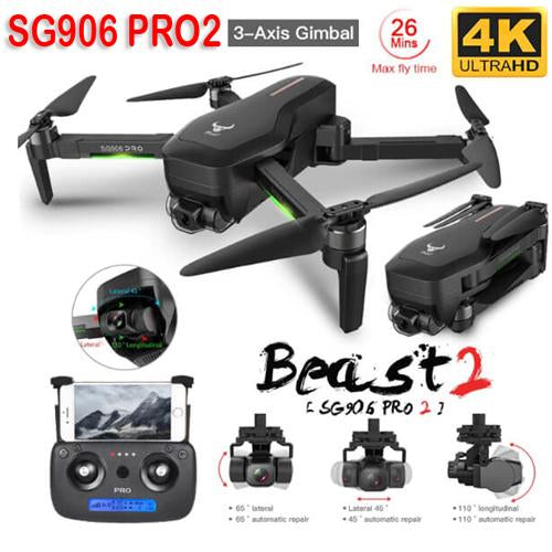 2020 SG906 PRO 2 RC Drone 3-Axis Gimbal Professional WIFI Dual Camera RC Drone - A1smartshop