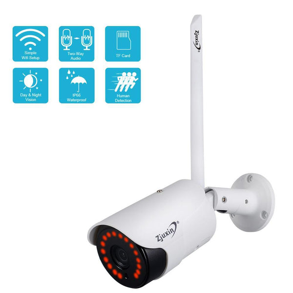 Zjuxin 1080P IP AI Camera HD Cloud Wireless Wifi Outdoor Weatherproof Infrared Night Vision Security Camera With TF Slot - A1smartshop
