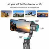 New H4 Handheld 3-Axis Flexible Gimbal Stabilizer Outdoor Stabilizing Holder - A1smartshop