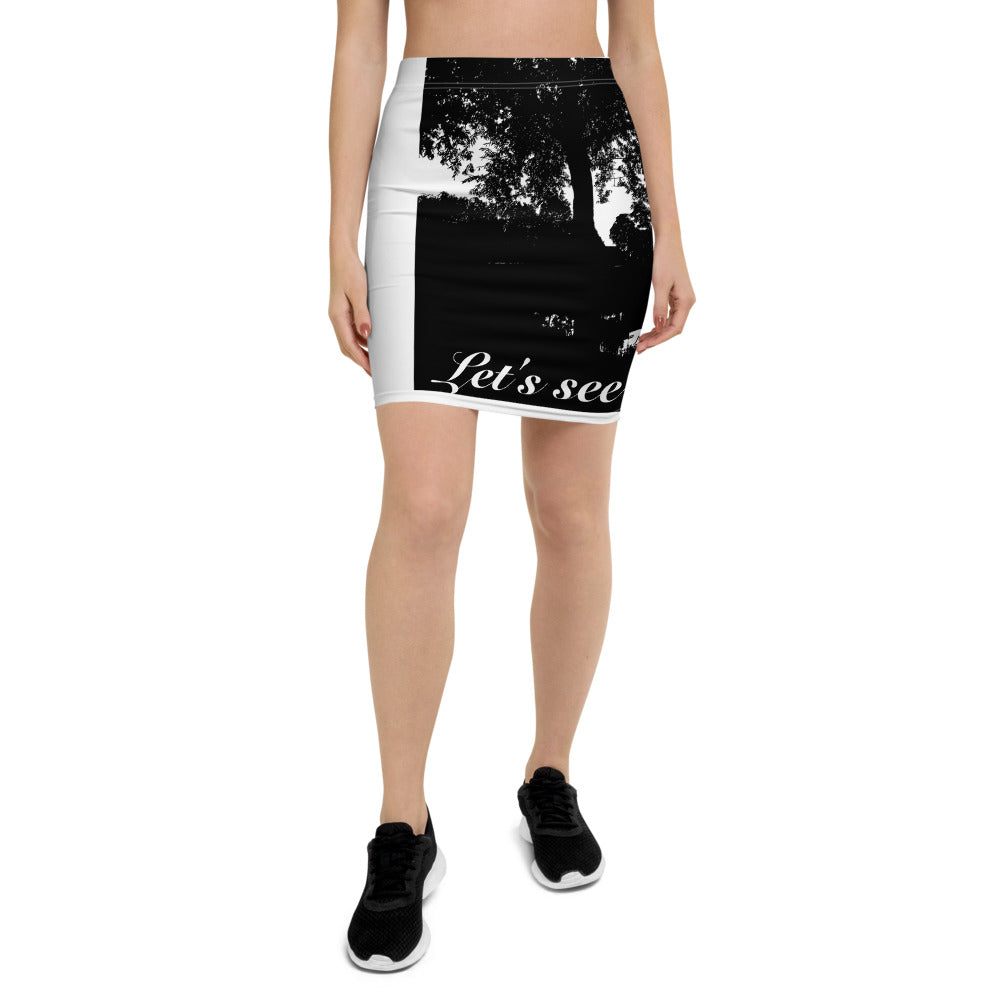 Let's See The River Pencil Skirt