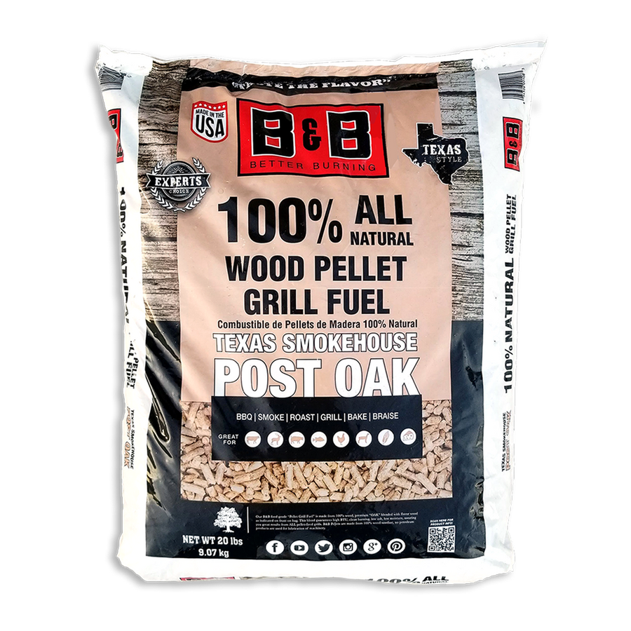 B&B Post Oak Pellet Grill 9 kg