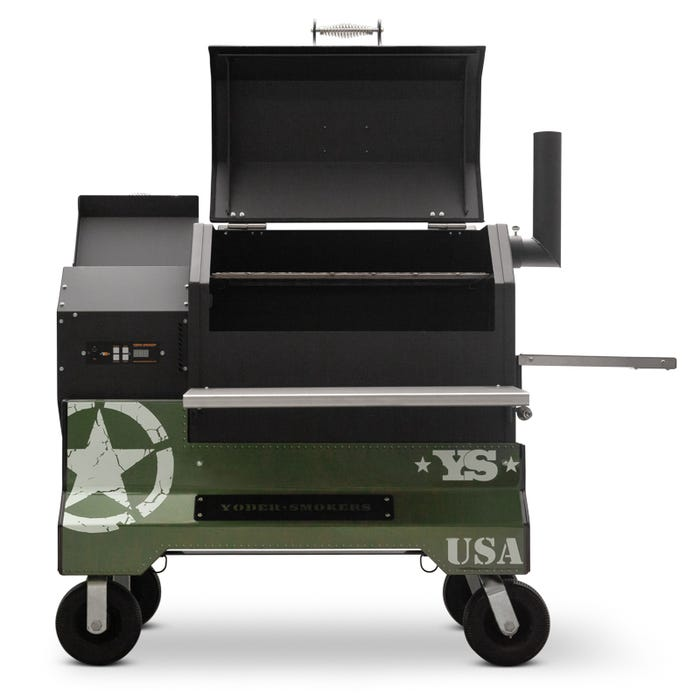 Yoder Smoker YS640s Pellet Grill With Military Comp Cart