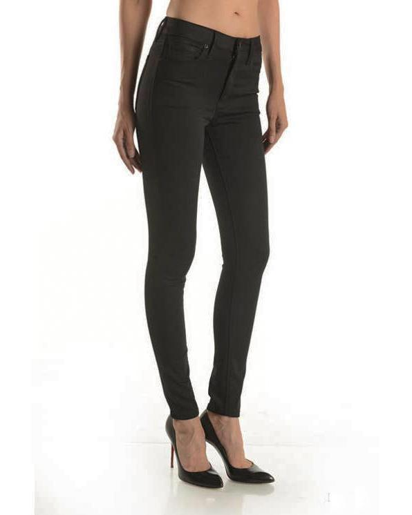 Mid-Rise Jet Skinny Denim Just Black Denim