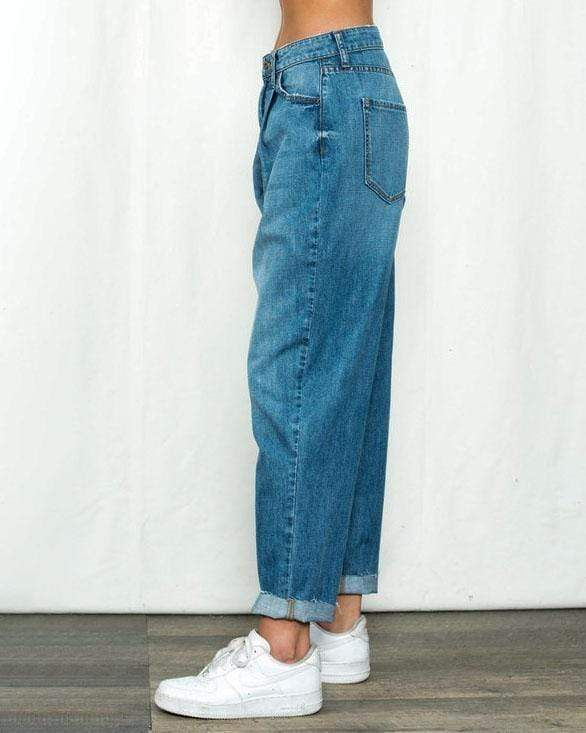 Distressed High Waisted Straight