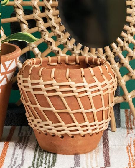 Grasslands Woven Terracotta Pot