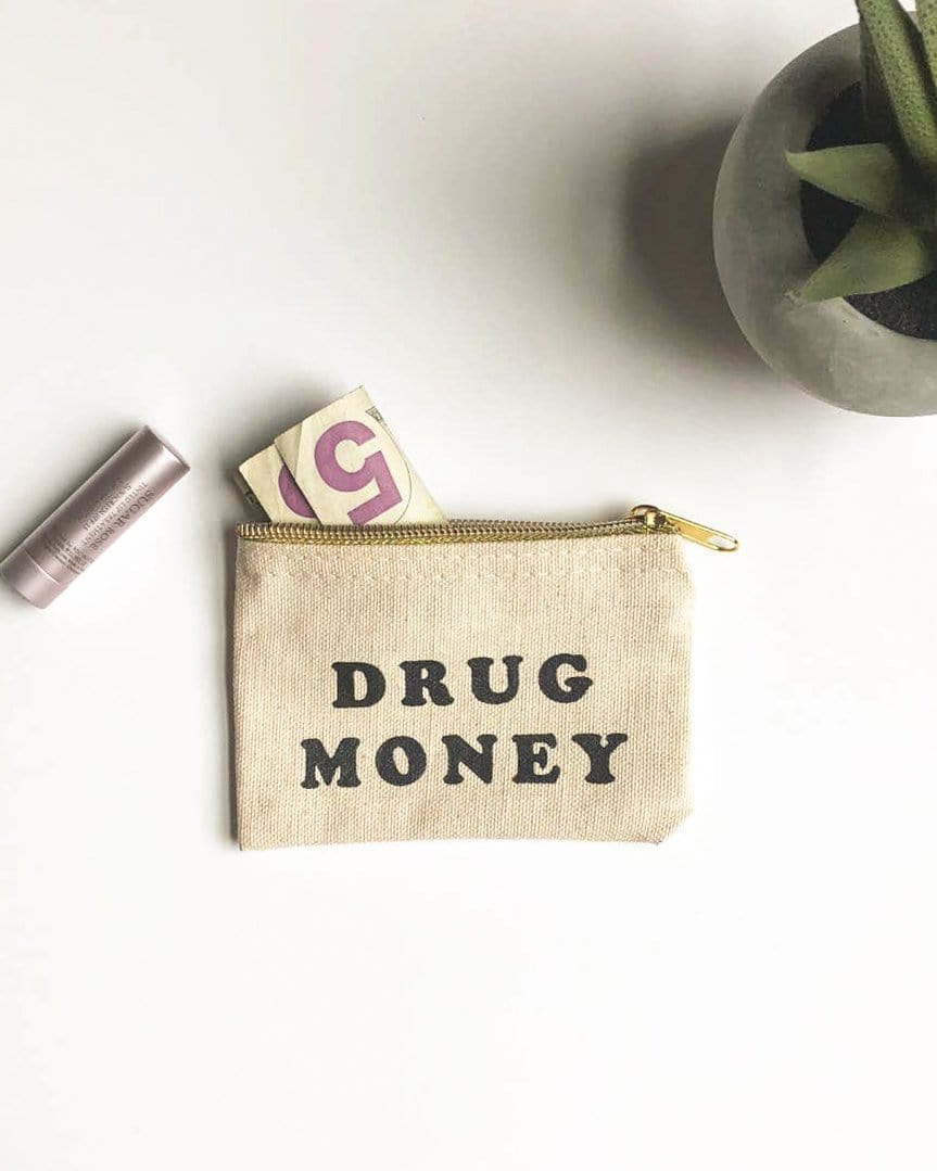 Drug Money Coin Pouch Black Lab Studio