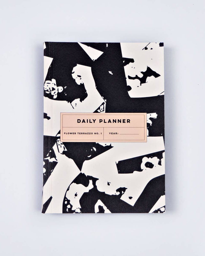 Flower Terrazzo No. 1 Daily Planner Book The Completist