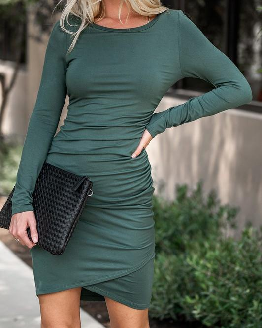 Body Con Ruched Midi