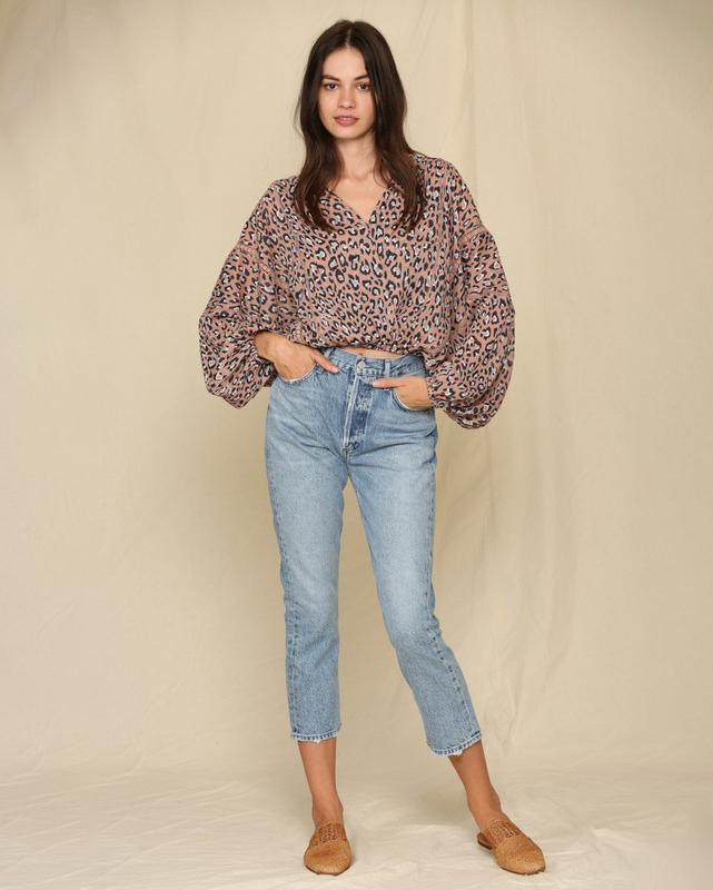 Yoryu Chiffon Blouse pant By Together