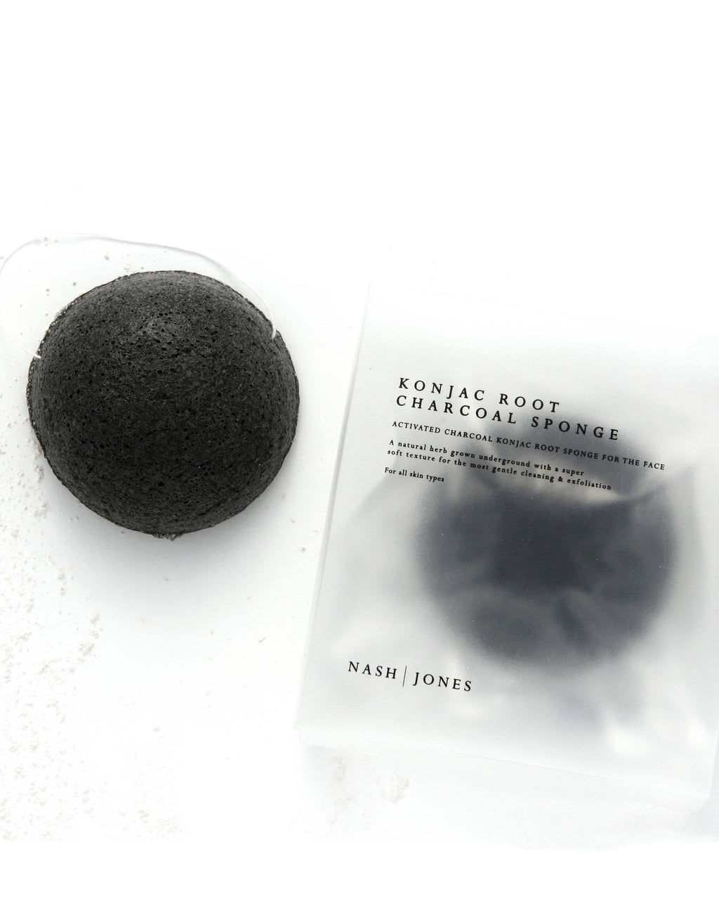 Activated Charcoal Konjac Face Sponge Nash and Jones