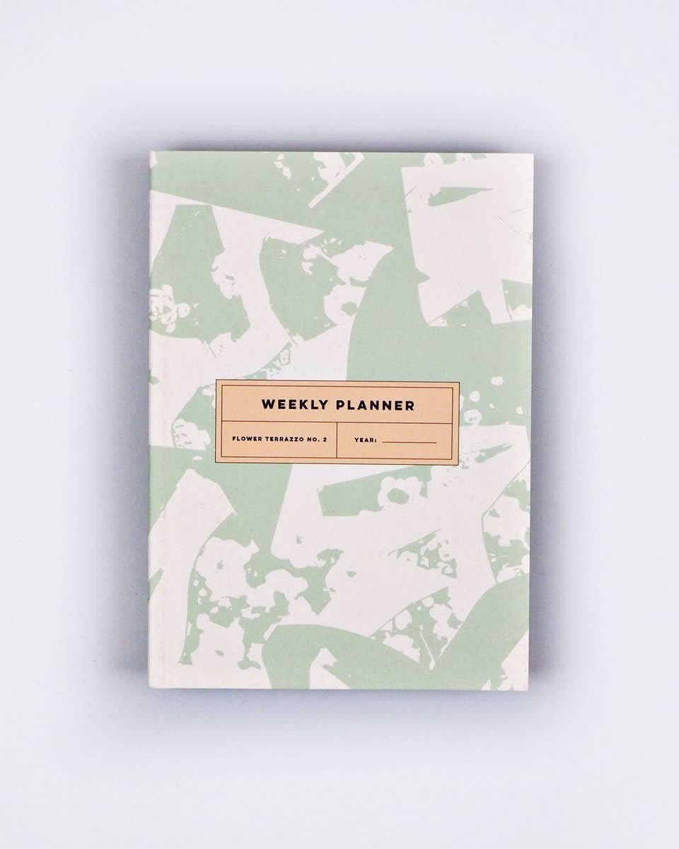 Flower Terrazzo No. 2 Weekly Planner Book - Haley Solar
