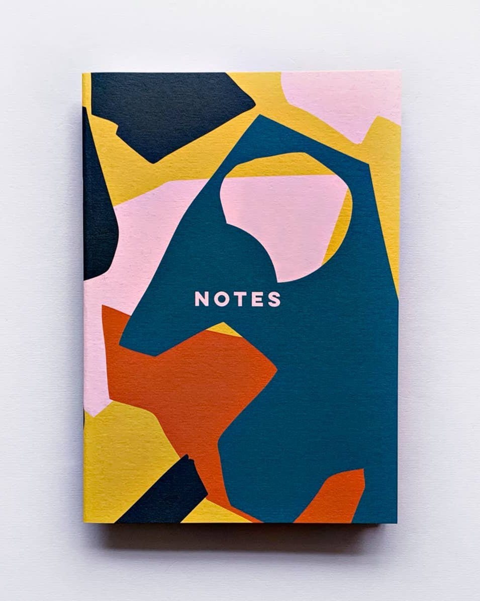Pink Cut Out Shapes Notebook - Haley Solar