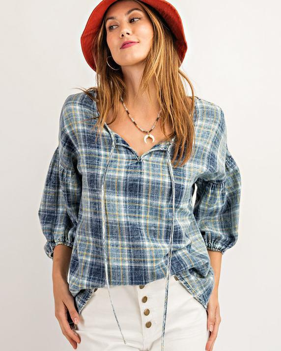 Washed Denim Tunic top Easel