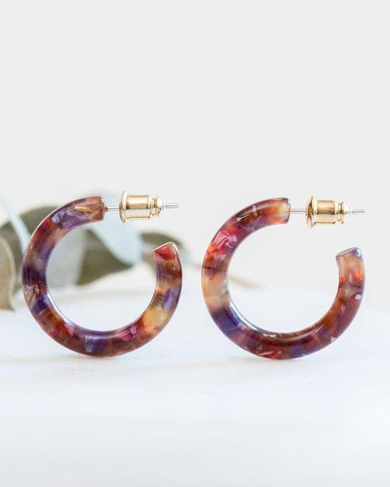 Acetate Mini Hoops
