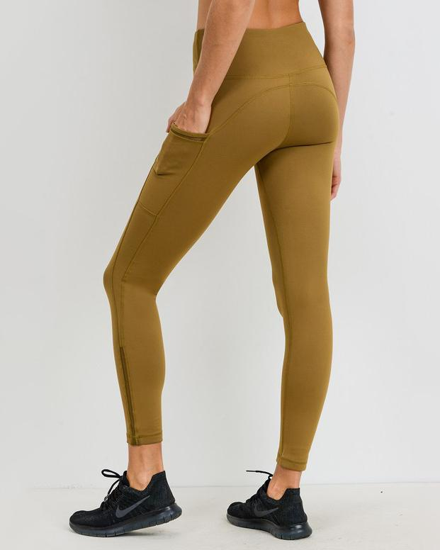 Vintage Mustard High-Waist Leggings