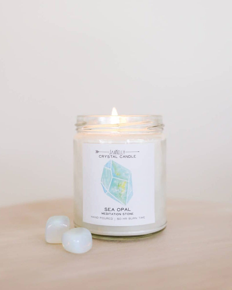 Crystal Charged Intention Candle JaxKelly