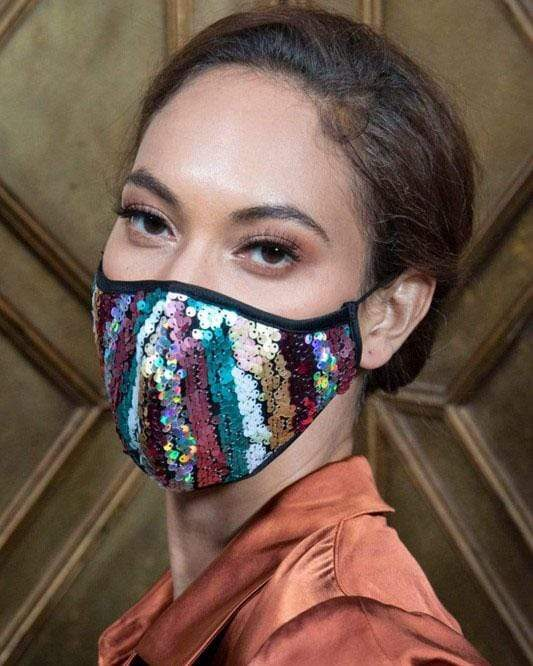 Sequin Knit Face Mask