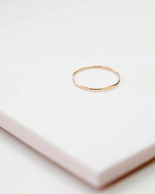 Organic Shapes Stacking Ring - Haley Solar