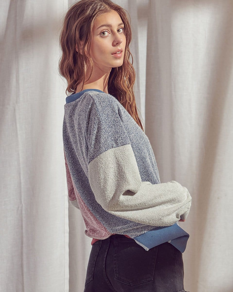 Asymmetrically Pieced Pullover