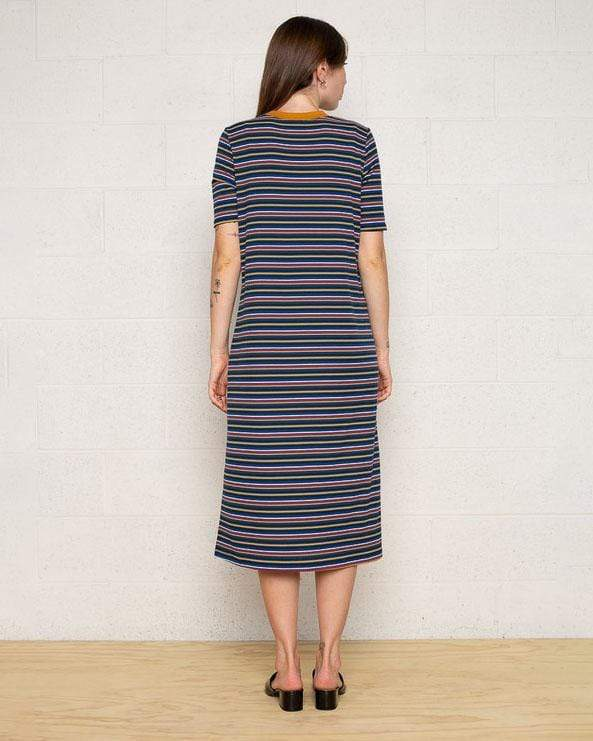 Savannah Striped Midi