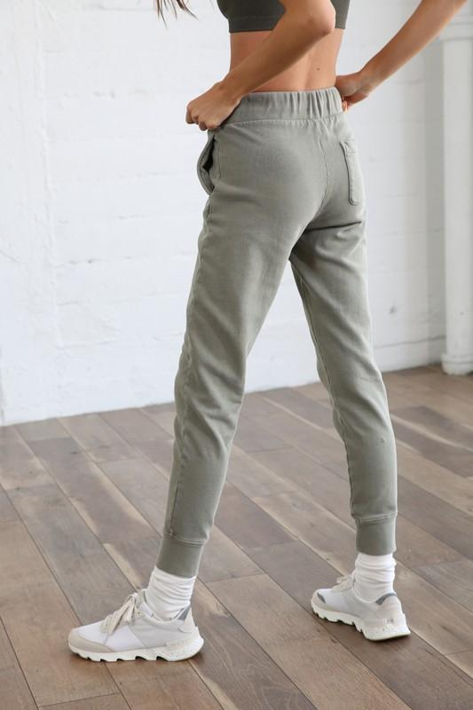 Olive French Terry Joggers