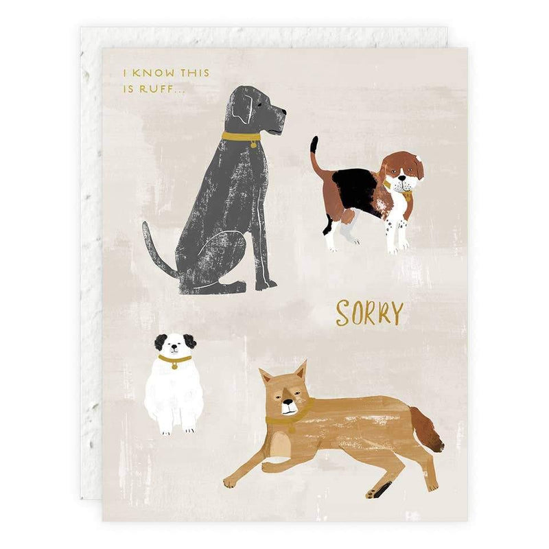 Doggie Sympathy Card card Seedlings