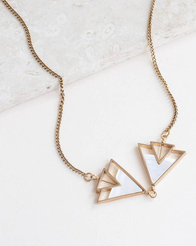 The Leda Necklace Michelle Starbuck Mother Of Pearl