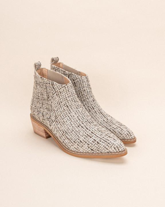 Textured Tweed Chelsea Boot