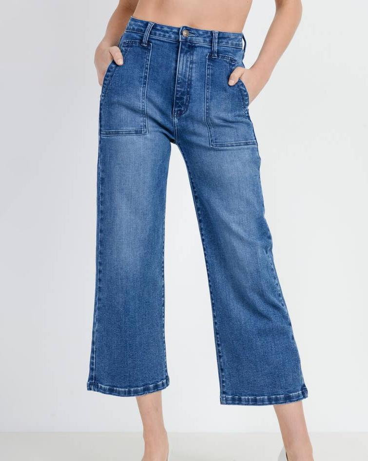 Wide Leg Patch Pocket - Haley Solar