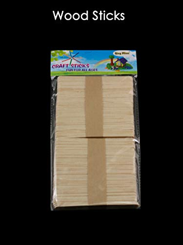 100PCS Craft Wood Sticks 11.4CM X 1.0CM