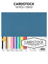 "Load image into Gallery viewer, CARDSTOCK 10PCS 12""X12""(1"