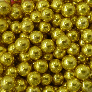 Edible decorations:  4mm Metallic Pearls (Dragees)  GOLD