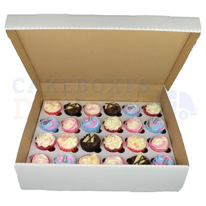 Cupcake Box - Corrugated Card 24 hole