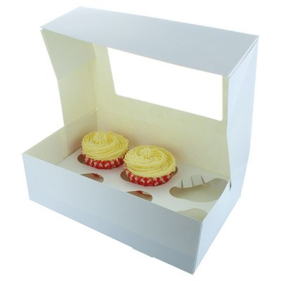 Cupcake box 6 hole x 4 inches deep (premium boxes)