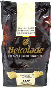 Baking Ingredients - Chocolate: Belcolade white Easymelt buttons