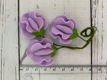 Load image into Gallery viewer, Pre-made Flowers - sweet peas - VARIOUS COLOURS