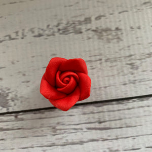 Pre-made Flowers - Sugarpaste Red Rose - VARIOUS SIZES