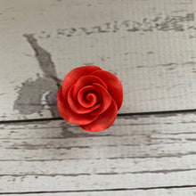 Load image into Gallery viewer, Pre-made Flowers - Sugarpaste Red Rose - VARIOUS SIZES