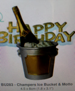 Cake Topper - Champagne bottle in Ice Bucket