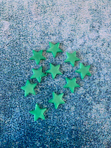 Edible Decoration - Green Stars (10 pack)