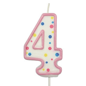 "CANDLES - PINK NUMERAL (64MM / 2.5"")"