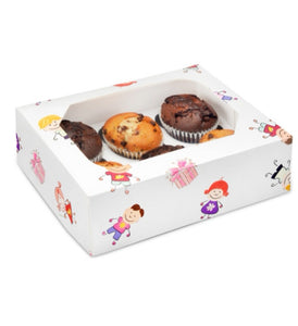 Cupcake Boxes - Childrens 6 hole - Kids