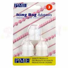 Piping - Icing Bag adaptor - set of 3