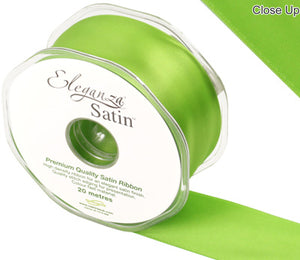 Ribbon:  Pistachio ( no 27)  Eleganza double faced Satin ribbon