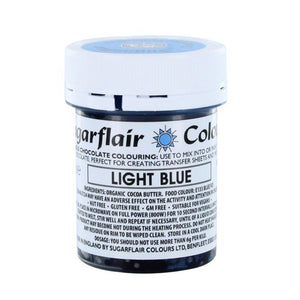 Colouring -Sugarflair Chocolate Colouring paste - Light Blue 35g